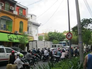 Motorbikes on Streets of Saigon
