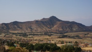 View of Maluti mountains from room