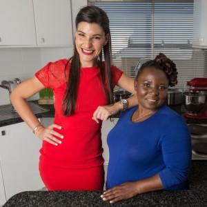 Claire Allen, and Siphokazi Mdlankomo #ShortChefSkinnyChef