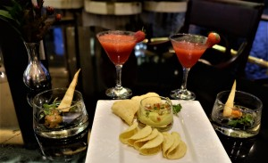 Strawberry daiquiries and canapés